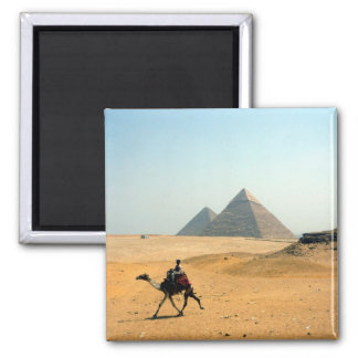 camel pyramid square magnet