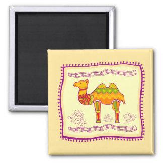 Camel Quilt Square Magnet