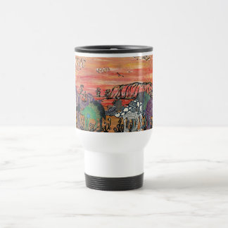 Camel Racing in the Outback Travel Mug