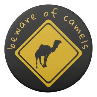 camel road sign - eraser