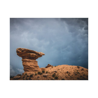 Camel Rock Cloudy Sky Canvas Print