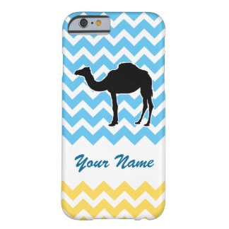 Camel Silhouette on Blue and Yellow Chevron Barely There iPhone 6 Case