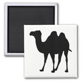 Camel Silhouette Square Magnet