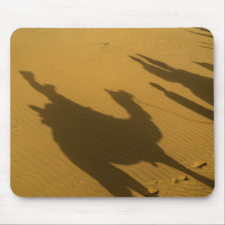 Camel silhouettes on sand dunes, Thar Desert, Mouse Pad
