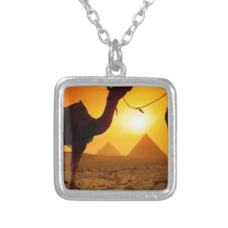 camel silver plated necklace
