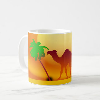 Camel & Trees Sunset White Coffee Mug