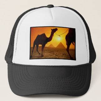 camel trucker hat