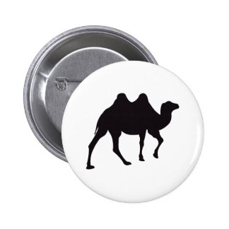 Camel Vintage Wood Engraving 2 Inch Round Button