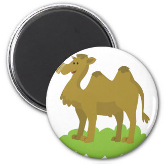 camel walking tall 2 inch round magnet