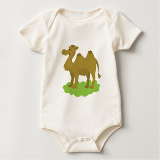 camel walking tall baby bodysuit