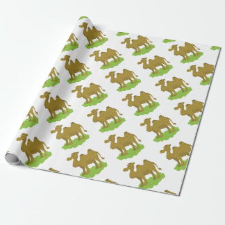 camel walking tall wrapping paper