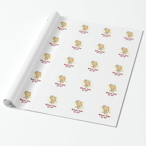 Camel - What Day Is It? Gift Wrapping Paper
