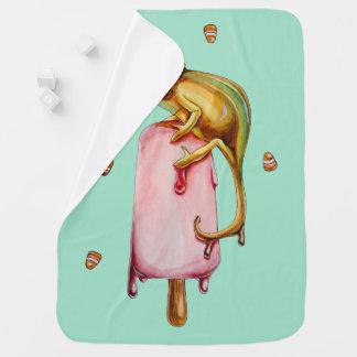 caméléon doux couvertures pour bébé