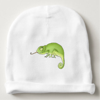 caméléon vert mignon bonnet pour bébé