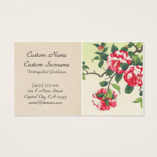 Camelia Nishimura Hodo ukiyo-e  flowers art Business Card
