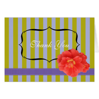 Camelia with Stripes: Purple Card