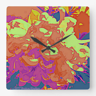 CAMELLIA ABSTRACT WALL CLOCK