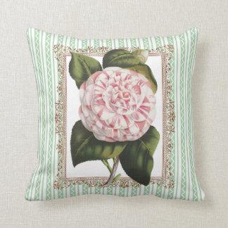 Camellia Gardeners Veranda Conservatory Porch Throw Pillow
