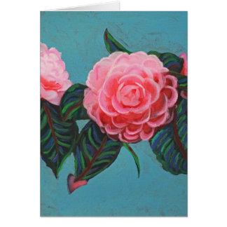 Camellia Japonica Sky Card