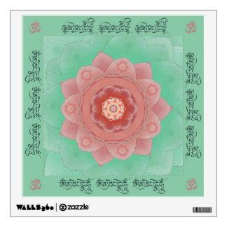 Camellia Lotus Mantra Mandala Wall Sticker