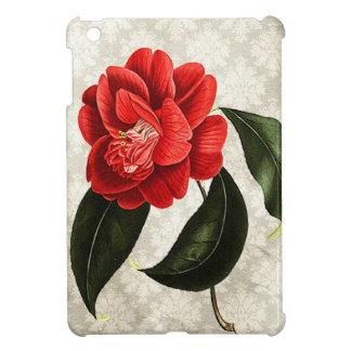 Camellia on Damask Romantic Vintage Botanical iPad Mini Covers