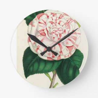 Camellia Round Clock