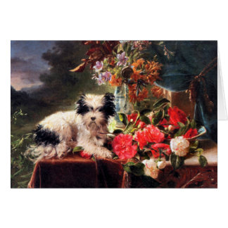 Camellias and a Terrier Card