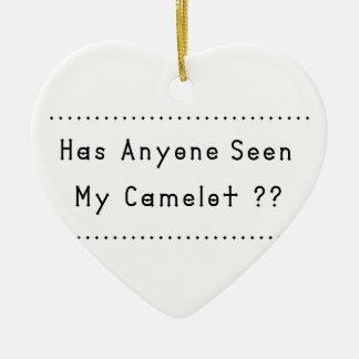 Camelot Ceramic Heart Ornament