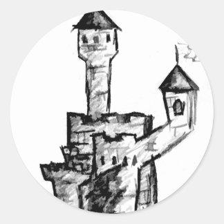 Camelot Round Sticker