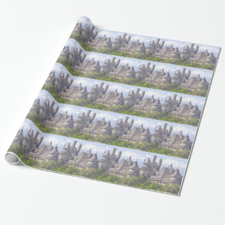 Camelot wrapping paper