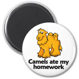 Camels ate my homework 2 inch round magnet