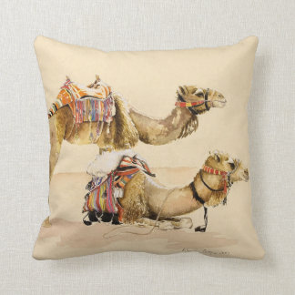Camels from Petra 2007 Throw Pillow