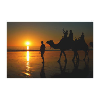Camels on Cable Beach 1 Wrapped Canvas