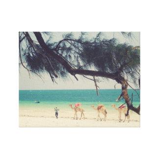 Camels' Ride Canvas Print