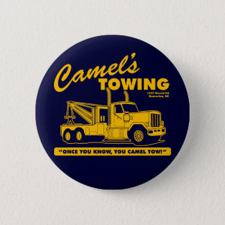 camel's towing company 2 inch round button