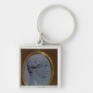 Cameo bearing the profile of Tiberius Keychain