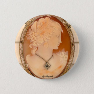 cameo, by Rugiada 2 Inch Round Button
