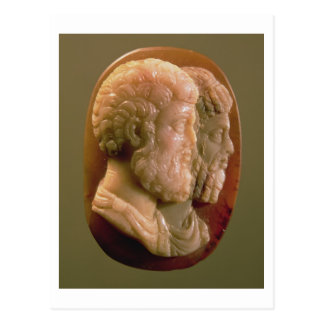 Cameo depicting Marcus Aurelius (121-180) and Luci Postcard