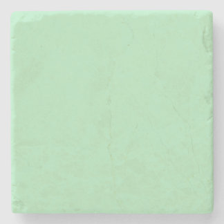 Cameo Green Mint 2015 Color Trend Template Stone Coaster