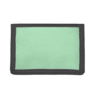 Cameo Green Mint 2015 Color Trend Template Trifold Wallets