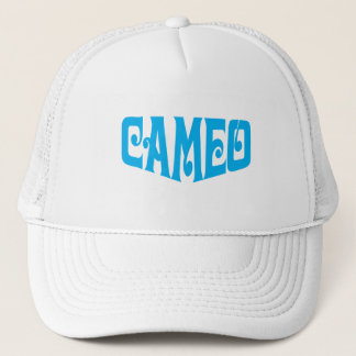 Cameo hat with blue logo