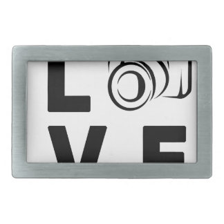 camera and love belt buckles