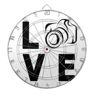 camera and love dartboard