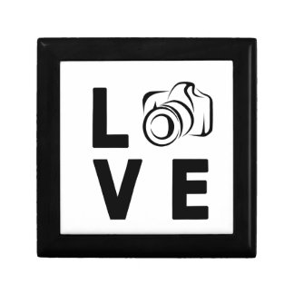 camera and love gift box
