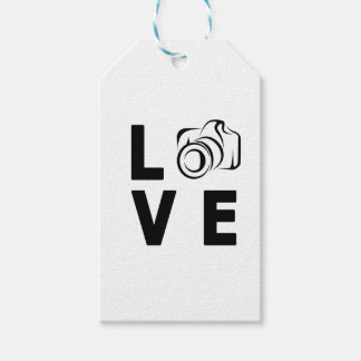 camera and love gift tags