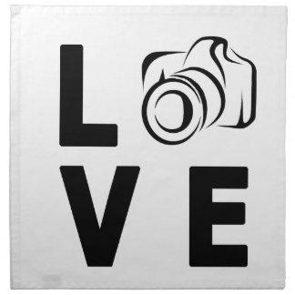 camera and love napkin
