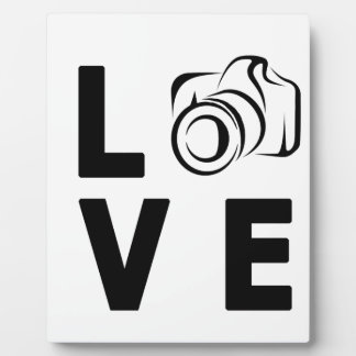 camera and love plaque