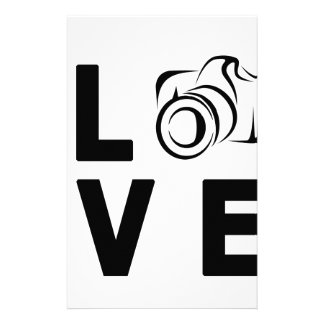 camera and love stationery