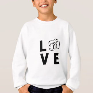 camera and love sweatshirt