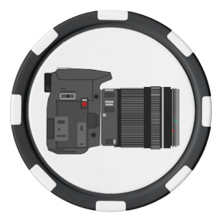Camera Angle Poker Chips Set